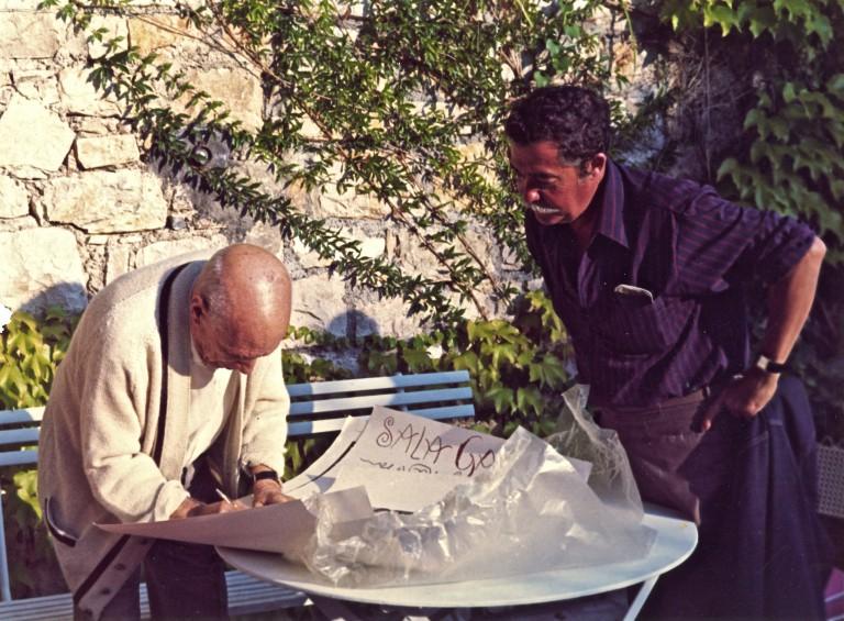 Antoni Clavé chez Picasso, 1968