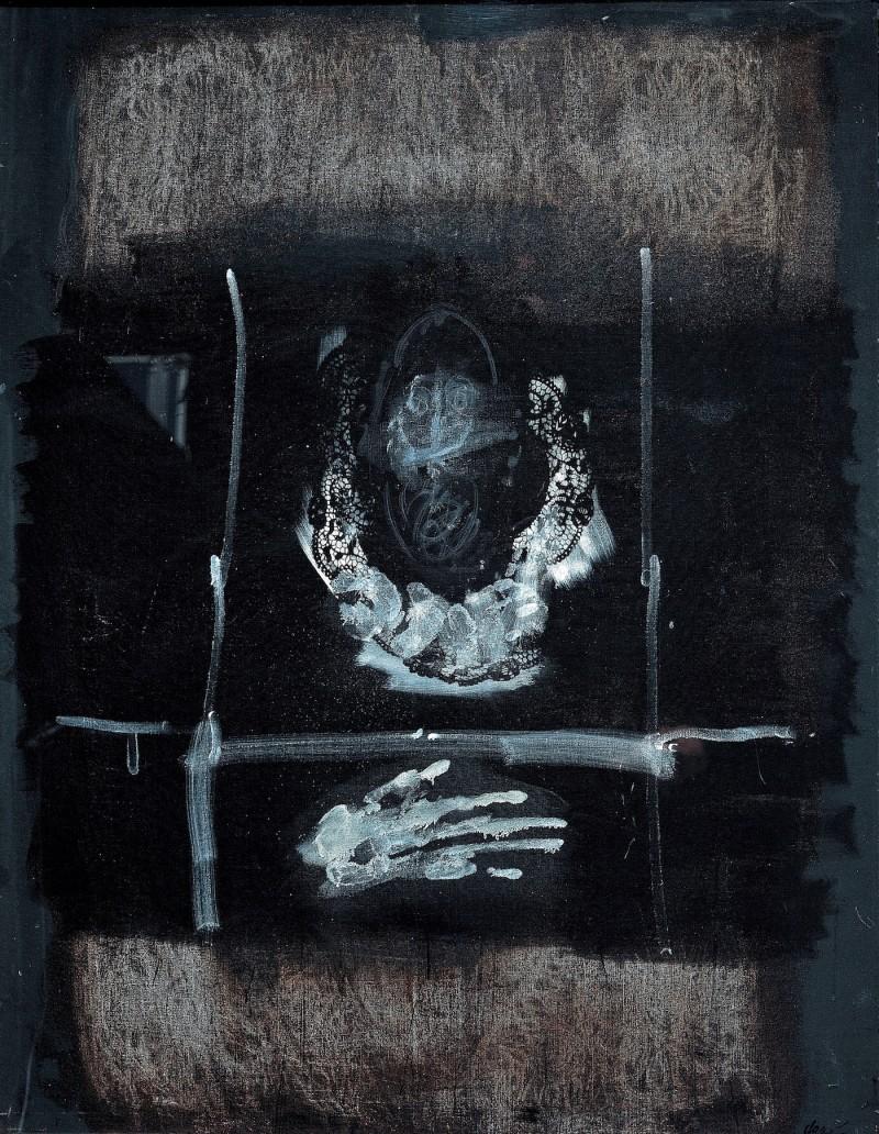 Caballero sur fond noir - Antoni Clavé