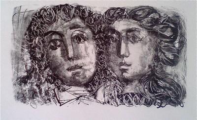 Candide et Cunégonde – Illustration pour «Candide» - Antoni Clavé