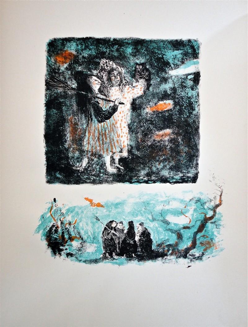 """Suite en couleur pour les """"Lettres d'Espagne"""" - Antoni Clavé"""