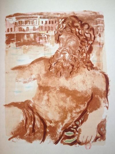 Neptune – Illustration pour «Versailles, songes et regrets» - Antoni Clavé