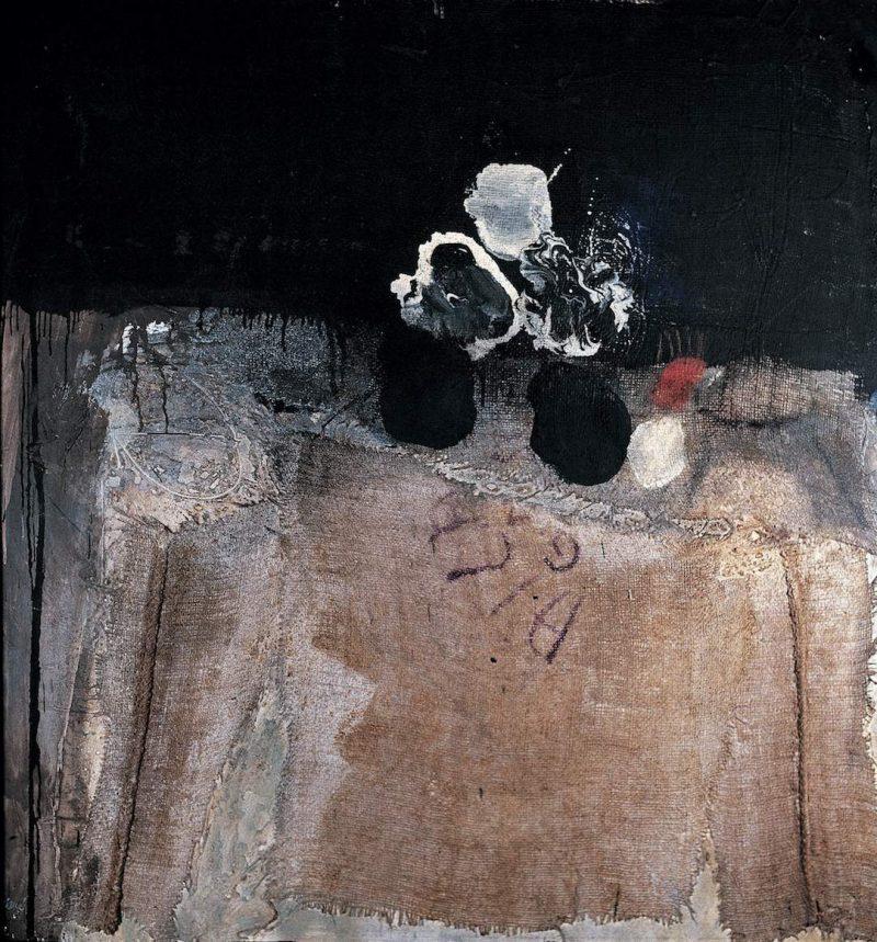 En toile de sac - Antoni Clavé