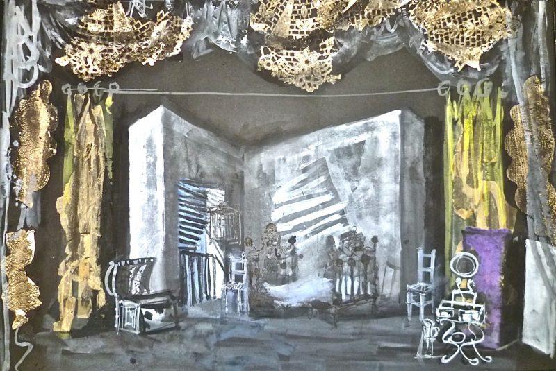 Carmen – Etude pour le 3e tableau - Antoni Clavé