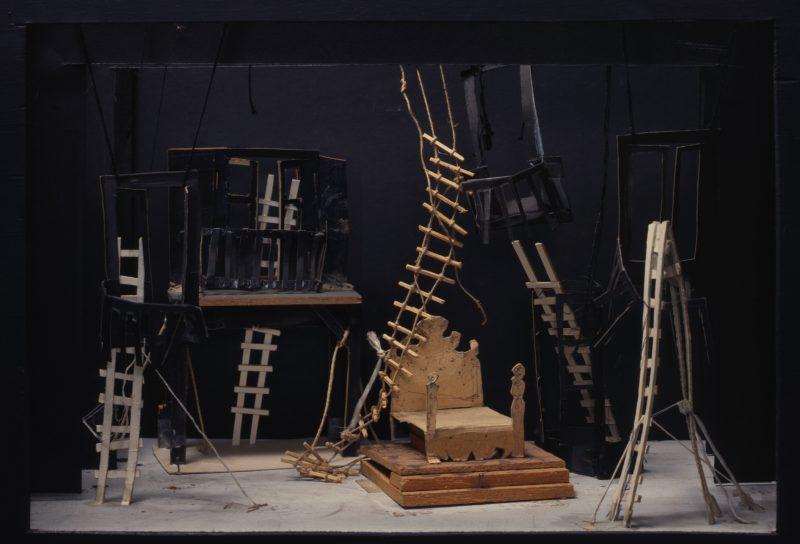 Don Perlimplin – Maquette pour l'acte II - Antoni Clavé
