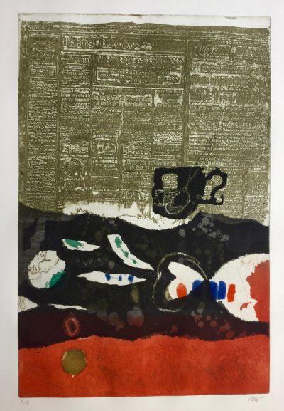 Tasse et journal - Antoni Clavé