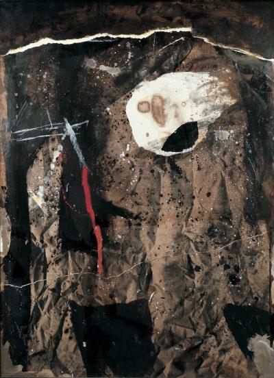 Guerrier ocre noir - Antoni Clavé