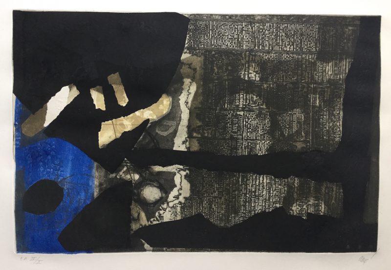 Ocre noir et bleu - Antoni Clavé