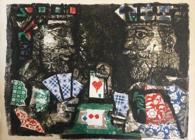Rois jouant aux cartes - Antoni Clavé