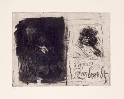 D'après Rembrandt I - Antoni Clavé